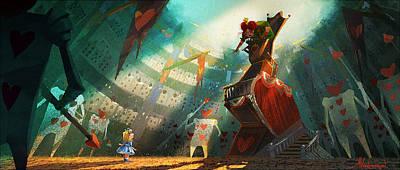 The Queen Of Hearts Poster by Kristina Vardazaryan