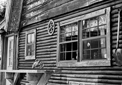 The Ranch House Bw Poster by Christi Kraft