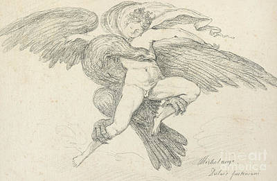The Rape Of Ganymede Poster by Jean-Honore Fragonard