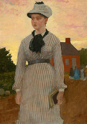 The Red School House Poster by Winslow Homer