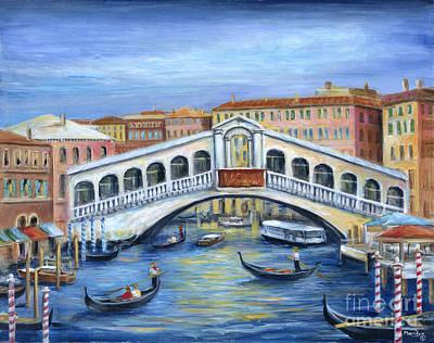 The Rialto Bridge Poster by Marilyn Dunlap