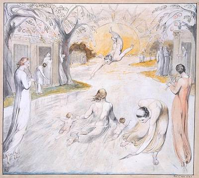 The River Of Life Poster by William Blake