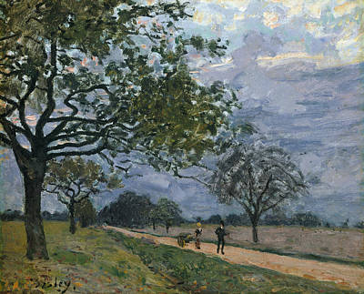 The Road From Versailles To Louveciennes Poster by Alfred Sisley