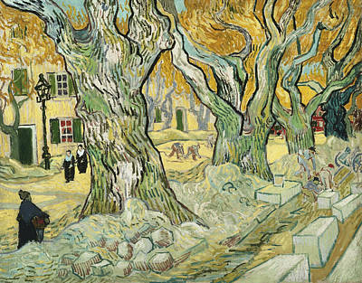 The Road Menders Poster by Vincent van Gogh