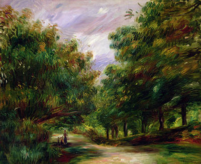 The Road Near Cagnes Poster by Pierre Auguste Renoir