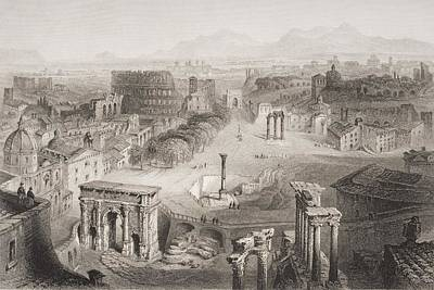 The Roman Forum From The Capitoline Poster by Vintage Design Pics