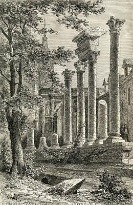 The Roman Theatre, Besan Poster by Vintage Design Pics