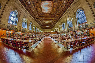 The Rose Main Reading Room Nypl Poster by Susan Candelario