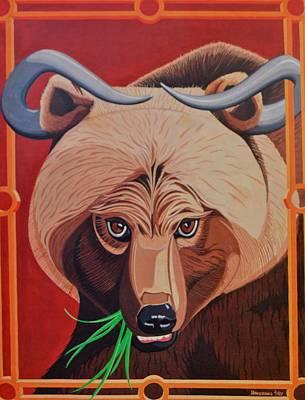 The Russian Bear Gets Bullish On Trade Poster by John Houseman