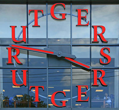 The Rutgers Clock Poster by Allen Beatty