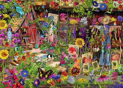Birdwatching Poster featuring the photograph The Scarecrows Garden by Aimee Stewart