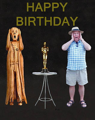 The Scream World Tour Oscars With Peter Beddoes Birthday Poster by Eric Kempson