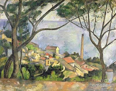 The Sea At L Estaque Poster by Paul Cezanne