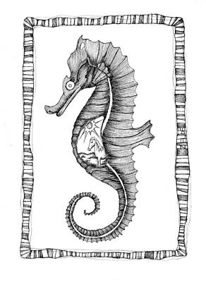 The Seahorse And The Land Horse Poster by Zelde Grimm