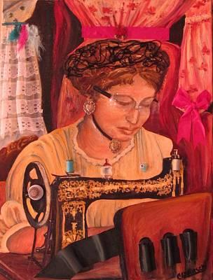 The Seamstress Poster by Carol Allen Anfinsen