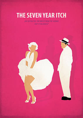 The Seven Year Itch Poster by Fraulein Fisher