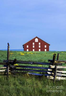 The Sherfy Farm At Gettysburg Poster by John Greim