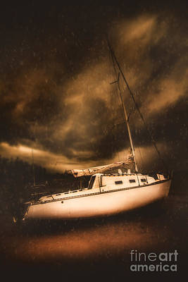 The Shipwreck And The Storm Poster by Jorgo Photography - Wall Art Gallery
