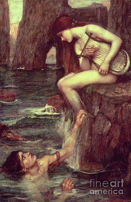 The Siren Poster by John William Waterhouse