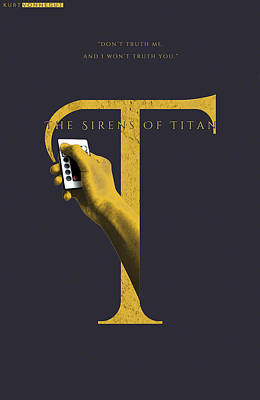 The Sirens Of Titan, Kurt Vonnegut Poster by Connor Sorhaindo