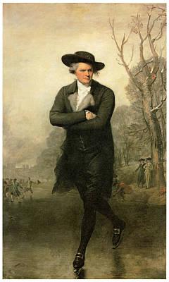 The Skater Portriat Of William Grant Poster by Gilbert Stuart
