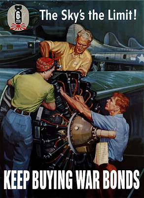 The Sky's The Limit - Ww2 Poster by War Is Hell Store
