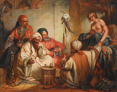 The Slave Market Poster by Jean Francois Portaels