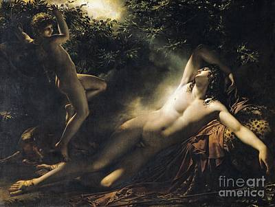 The Sleep Of Endymion Poster by Anne Louis Girodet de RoucyTrioson