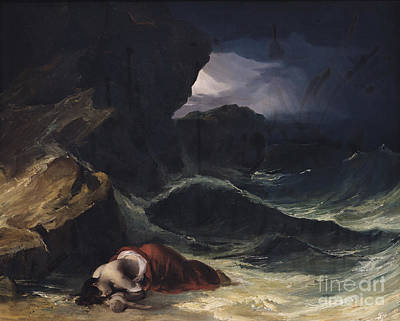 The Storm Or The Shipwreck Poster by Theodore Gericault