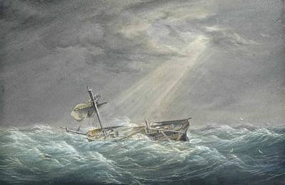 The Sun Breaking Through The Clouds After The Storm Poster by William Joy