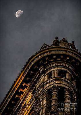 The Sunlight The Moon And The Flatiron Poster by James Aiken