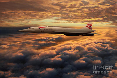 The Supersonic Concorde Poster by J Biggadike