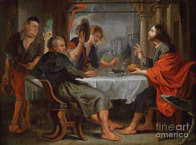 The Supper At Emmaus Poster by Celestial Images