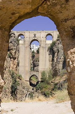 The Tajo De Ronda And Puente Nuevo Bridge Andalucia Spain Europe Poster by Mal Bray