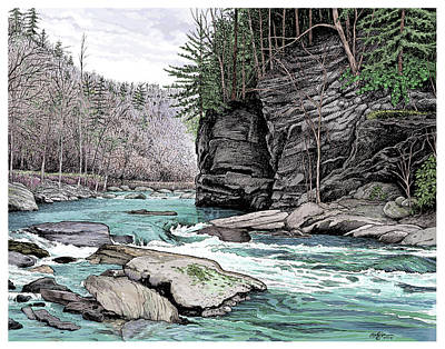 The Tellico River Poster by Dave Olson