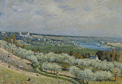 The Terrace At Saint Germain Poster by Alfred Sisley