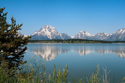 The Tetons On Jackson Lake - Grand Teton National Park Wyoming Poster by Brian Harig