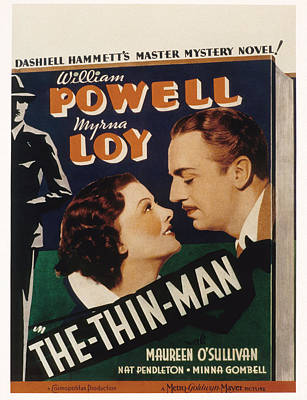 The Thin Man, Myrna Loy, William Poster by Everett