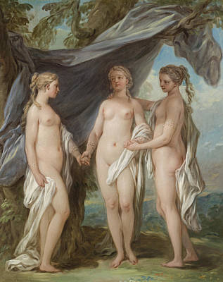 The Three Graces Poster by Charles-Amedee-Philippe van Loo