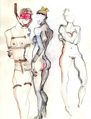 The Three Graces - Female Nudes Poster by Carolyn Weltman
