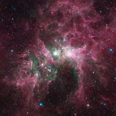 The Tortured Clouds Of Eta Carinae Poster by Nasa
