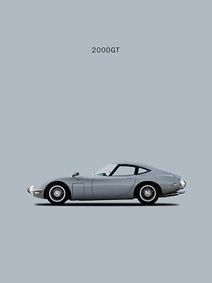 The Toyota 2000gt Poster by Mark Rogan