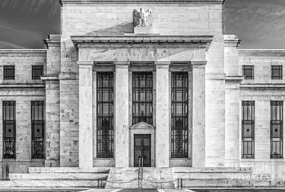 The United States Federal Reserve Bw Poster by Susan Candelario