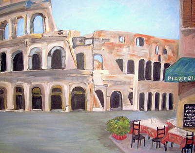 The View Of The Coliseum In Rome Poster by Teresa Dominici