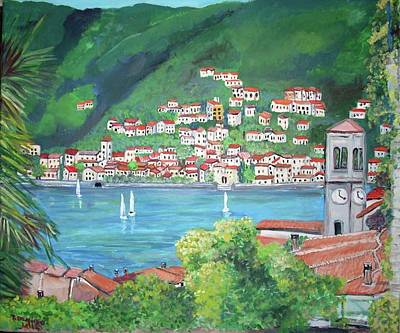 The Village Of Torno Poster by Teresa Dominici