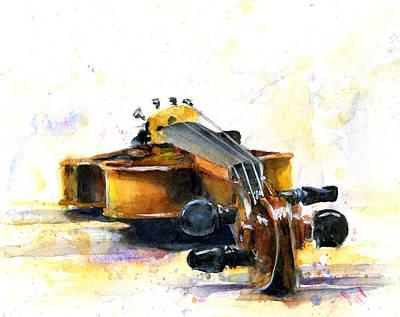 The Violin Poster by John D Benson