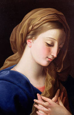 The Virgin Annunciate Poster by  Pompeo Girolamo Batoni