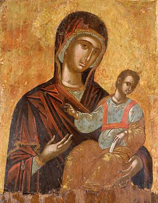 The Virgin Hodegetria Poster by Cretan workshop