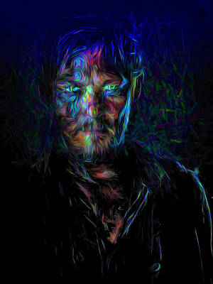 The Walking Dead Daryl Dixon Painted Poster by David Haskett