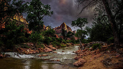 The Watchman Along The Virgin River Poster by Scott McGuire